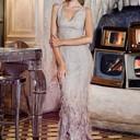 Платье Ralph Lauren, серьги и колье Mercury из коллекции Flower (белое золото, бриллианты)